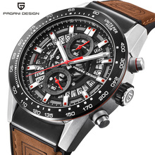 PAGANI DESIGN 2018 Top Luxury Brand Vattentät Quartz Watch Fashion Militär Män Armbandsur Nedräkning Klockrelogios Masculino