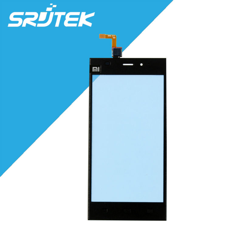 For Xiaomi Mi3 Mi 3 M3 Mi 3 Touch Screen Digitizer Panel Front Outer Glass Lens Replacement Parts Black