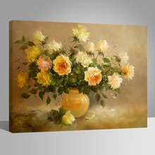WONZOM Paint By Numbers Kit Flowers Vase Home Decor Oil Painting On Canvas With Framed Wall Art For Living Room Acrylic