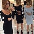 Женщины платье Мода новый стиль сексуальная девушка Черное платье дешевые одежда китай Полная письмо Повседневная Прямо платье