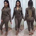 New arrive high quality women brand pockets long jumpsuit full sleeve playsuit women bodysuit Overalls Macacao Feminino
