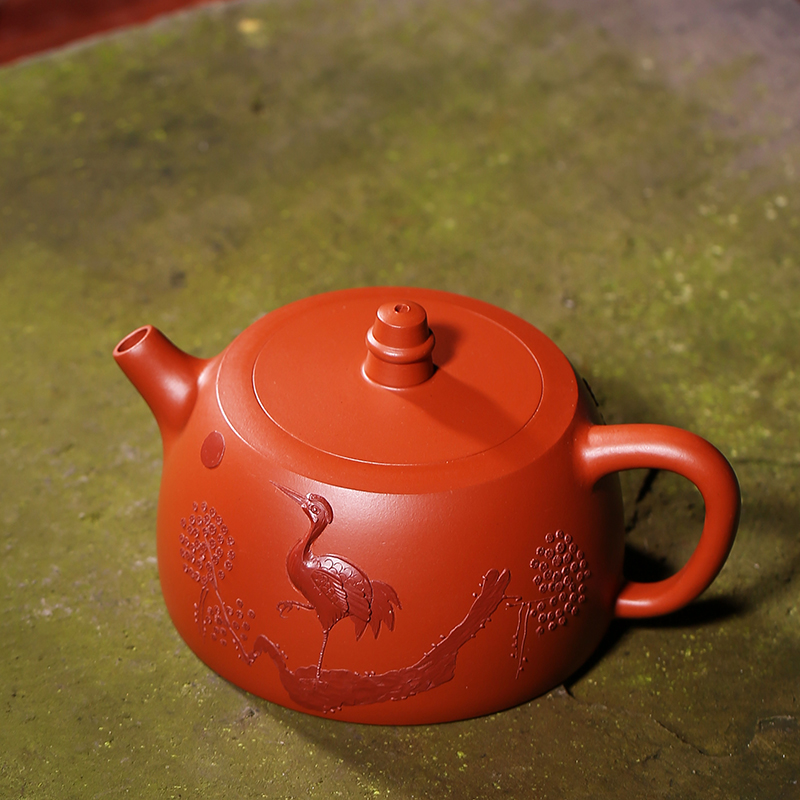 180ML Yixing auténtico arenilla morada tetera diseño vintage Dahongpao hierba todos hecha a mano de 188 agujeros de filtro de té negro hervidores de agua - 3
