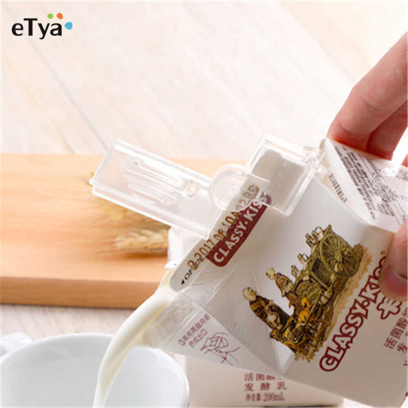2pcs Househould milk Storage Seal Sealing Pour Bag Clips Sealer Clamp milk Bag Clip Kitchen Tool Home Food Close Clip Seal