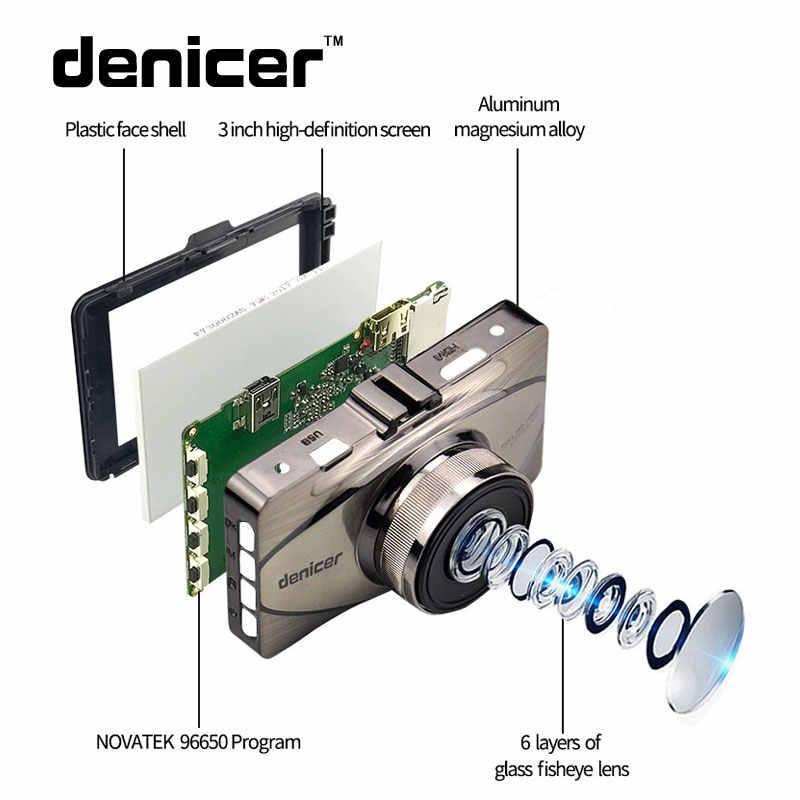 Denicer Car Dash Cam FHD 1080 P приборная панель камера 170 градусов вождение автомобиля DVR рекордер g-сенсор