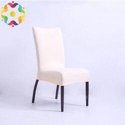 Dobrej jakości elastan Lycra na krzesło nadaje się na kwadratowe z powrotem do domu krzesła weselne dekoracja domu obiad pół pokrowce na krzesła
