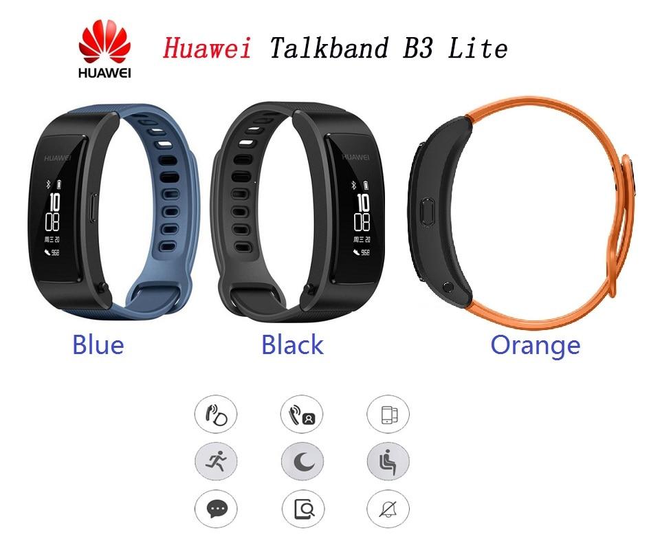 Original Huawei Talkband B3 Lite Smart Band Wristband Bluetooth Headset Answer End Call Run Walk Sleep