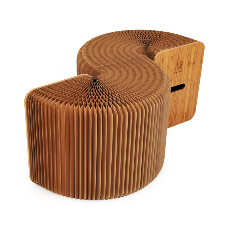 Creative Kraft Paper Folding Stool Bench Paper Furniture Organ Shaped Chair  Ideal For Home/Outdoor Decor Bench Seat Long Chair In Stools U0026 Ottomans  From ...