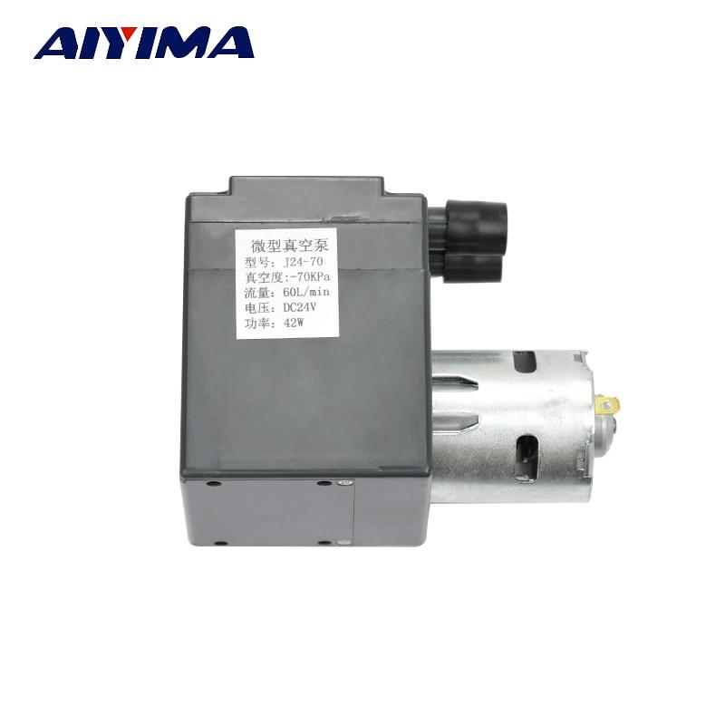 Aiyima DC24V Mini Vacuum Pump Negative Pressure Air Exhaust Suction Pump Diaphragm Pressure Pump Large Flows