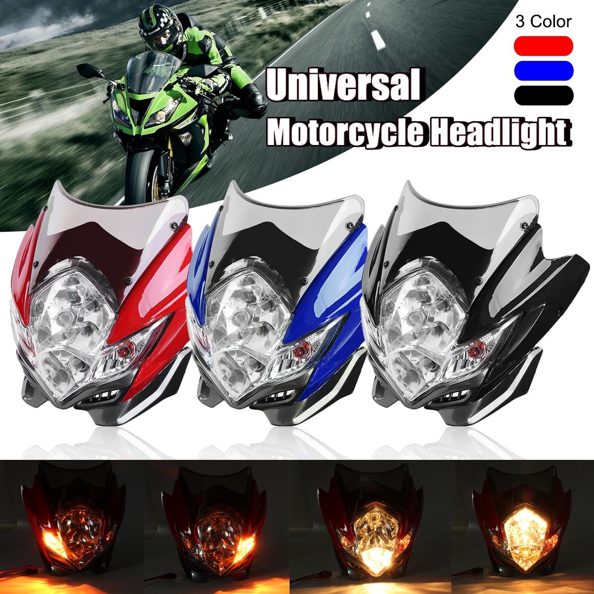 Mofaner Universal Motorcycle Street Fighter Headlight Lamp Bike FairingMofaner Universal Motorcycle Street Fighter Headlight Lamp Bike Fairing