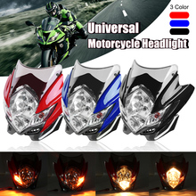 Mofaner Universal Motorcycle Street Fighter Headlight Lamp Bike Fairing