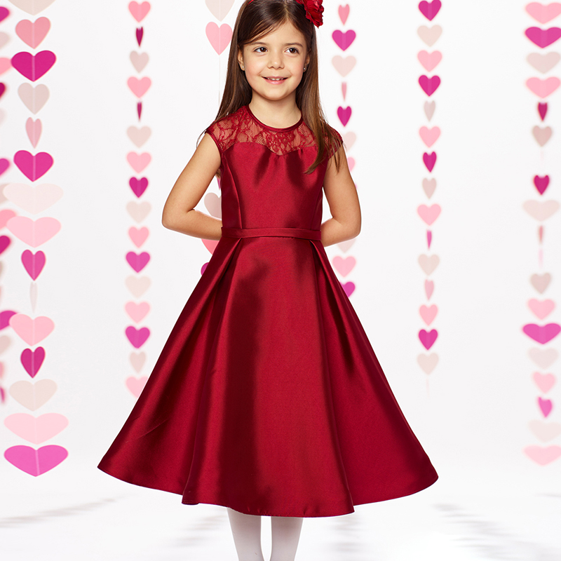 Satin Flowers Girls Dress BabyTutu FlowerGirl Dresses for Wedding  First Communion Occasion Gown Kids Dresses 2017 New Products