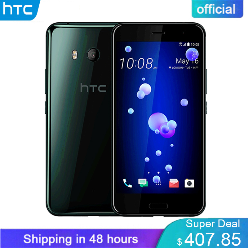 Brand New Original HTC U11 4g LTE 6 gb de RAM 128 gb ROM Snapdragon 835 Núcleo octa 5.5 polegada IP67 À Prova D' Água 2560x1440 p telefone Móvel