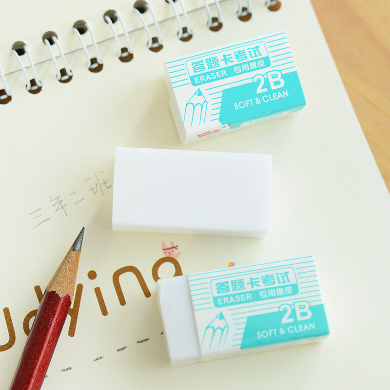 Cube 2B Drawing Professional White Art Pencil Eraser Office School Supplies Stationery