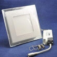 5 шт./лот 15 Вт AC85-265V квадратной формы Ultral тонкая голубая + белый / теплый белый панель украшение интегрированный потолок из светодиодов свет