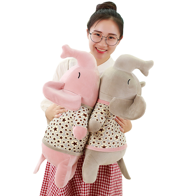 45cm Stuffed Baby Animal Elephant Doll Soft Elephant Plush Pillow Kids Toy Cute Children Girl Room Bed Sleeping Pillow Gift