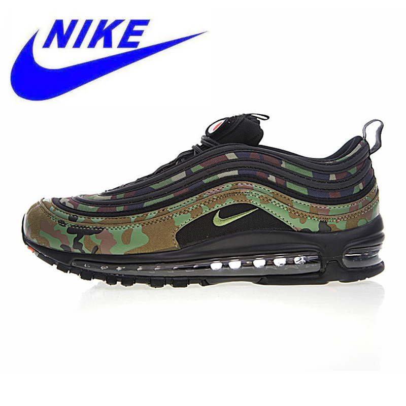 new style 99e4c ece48 Nike Air Max 97 Premium QS Men s Running Shoes, Camo Yellow   Army Green,  Shock absorbing Breathable AJ2614 203 AJ2614 202-in Running Shoes from  Sports ...