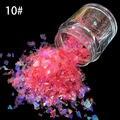10g/botella Nail Art Acrílico Mezcla de Hielo Mylar Glitter Shinny Glitter podwer SG-10 Cáscara De Papel de Color Rosa Oscuro