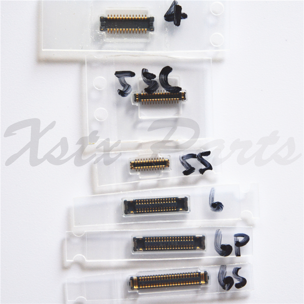 100PCS LCD Screen FPC Plug <font><b>Connector</b></font> for Motherboard <font><b>Display</b></font> Repair for iPhone 4 4s 5 5S 5C 6 6 Plus 6S Plus 7 7P 8 8P Plus image