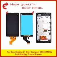 10Pcs/lot Free DHL 4.3 For Sony Xperia Z1 Mini Compact D5503 M51W LCD Display With Touch Screen Digitizer Sensor Panel Assembly