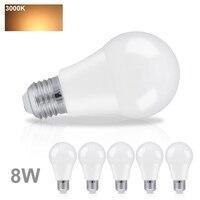 6PCS LED Bombillas Lamp 8W A60 E27 LED Bubble Ball Bulb Light Color Warm White Indoor Lighting Living Rooom Bedroom