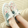 Womens New princess canvas shoes floral print shoes women's fashion casual shoes for lady flats