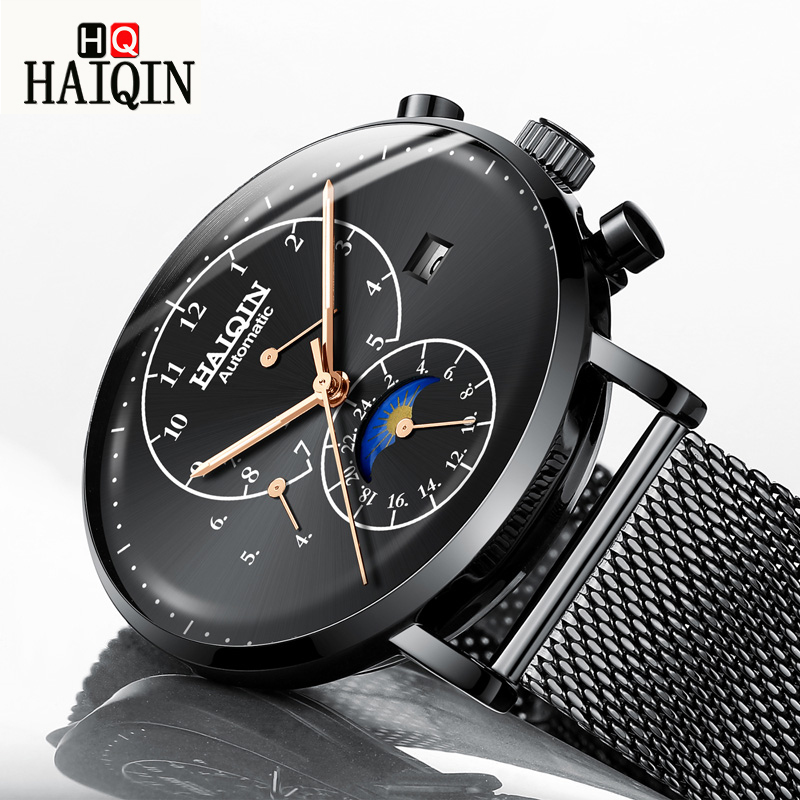HAIQIN Mens Watches Watch Men Gold Sports Waterproof Watch Casual Fashion Brand All Steel Mechanical Watch Relogio Masculino   HAIQIN Mens Watches Watch Men Gold Sports Waterproof Watch Casual Fashion Brand All Steel Mechanical Watch Relogio Masculino