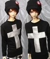 Silver cross for (1/3 / uncle / 1/4/1/6 / SOOM - ID/IP) Clothes