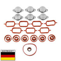 AP03 New Swirl Flaps Set for BMW 6x 32mm O-rings Seals Intake Manifold rep repair kit
