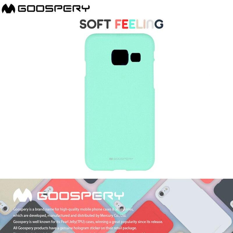 Original Mercury Goospery Soft Feeling Jelly Matt Rubber Case For Samsung Galaxy J3 J5 J7 2016 2017