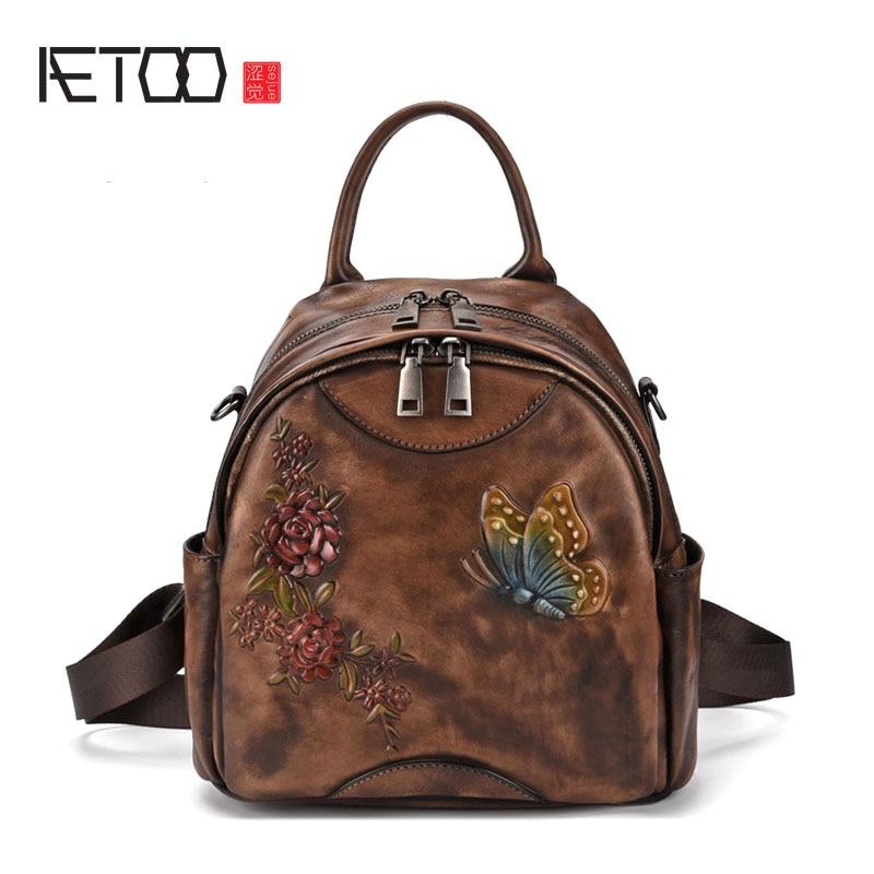 Rindsleder Schulter Europa Rucksack 1 Retro Baum Farbe Hand Antike Hohe Leder Tasche Amerika Reiben Bjyl Und qBaIYww