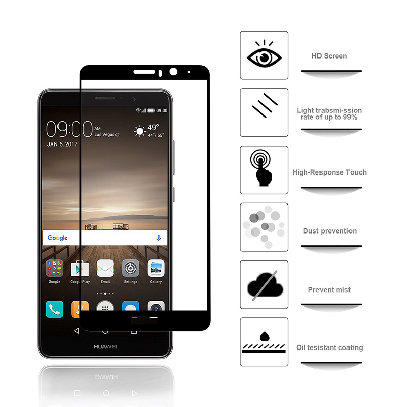 Suntaiho Tempered Glass Film For Huawei Mate 9 Screen Protector Protective 2.5D Full Cover Screen Protector For Huawei Mate 9