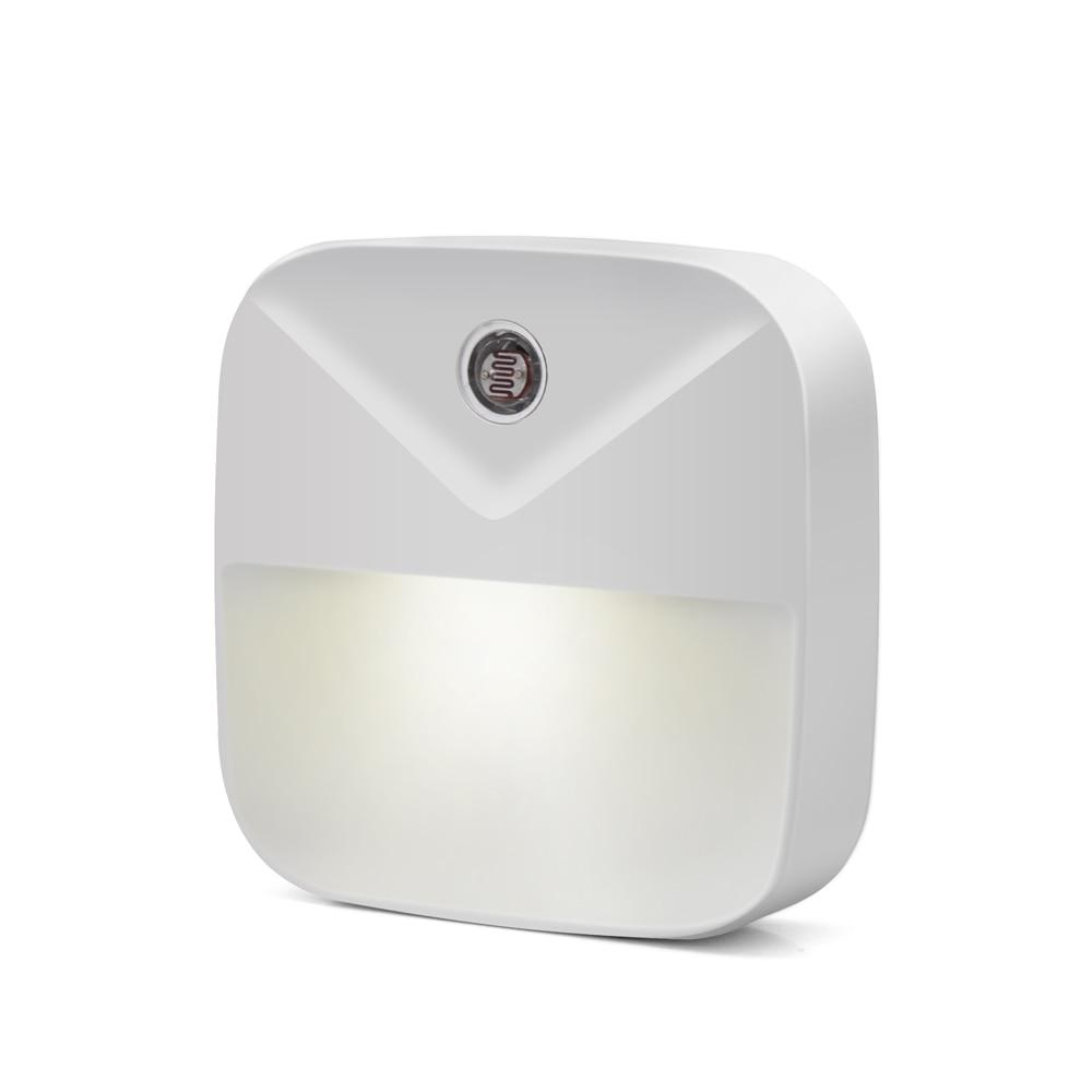 LED Night Light Dusk-to-Dawn Mini Auto Light Sensor Control EU US Plug LED Night Lamp For Kids Bedroom Bedside Lamp