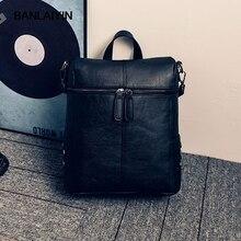 Voguecasual рюкзаки для женщин опрятный из искусственной кожи школьная сумка для девочек-подростков заклепки украшены леди дорожная сумка