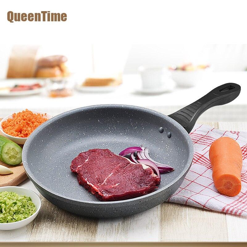 QueenTime Non-Stick Padella Uovo Fritto Bistecca Padella Grill Pan Frittata Pancake Fare Padella di Alluminio Da Cucina utensili