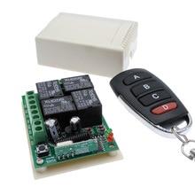12VDC bezprzewodowy pilot zdalnego sterowania przełącznik 4 sposób 433MHZ moduł przekaźnika odbiorczego RF 4NO + 4NC kontroler
