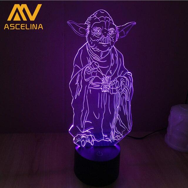 Jedi Knight Yoda Star Wars Verlichting Gadget 3D Mood Lamp ...