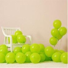 Fruit green latex balloon 50pcs/lot 10inch 2.2g helium air ballon decors wedding 18 party ballons decoration birthday