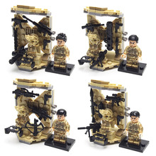 4pcs SWAT Police Military Minifigures Set Army with weapon Equipment Building brick Kids Toys Christma present Compatible legoed