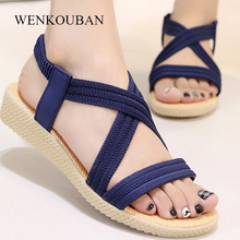 Women Gladiator Sandals Ladies Flat Shoes