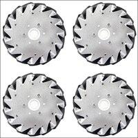 A set of 152mm Aluminium Mecanum wheels (4 pieces) 14101