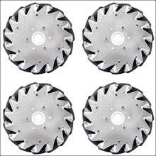 A set of 152mm Aluminium Mecanum wheels 4 pieces 14101