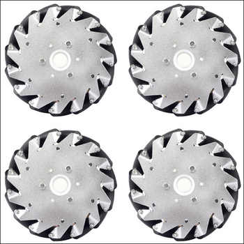 A set of 152mm Aluminium Mecanum wheels (4 pieces) 14101 - DISCOUNT ITEM  0% OFF All Category