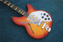 Free shipping factory custom Rickenbk guitar semi-hollow body JAZZ electric guitars Cherry color musical instrument shop