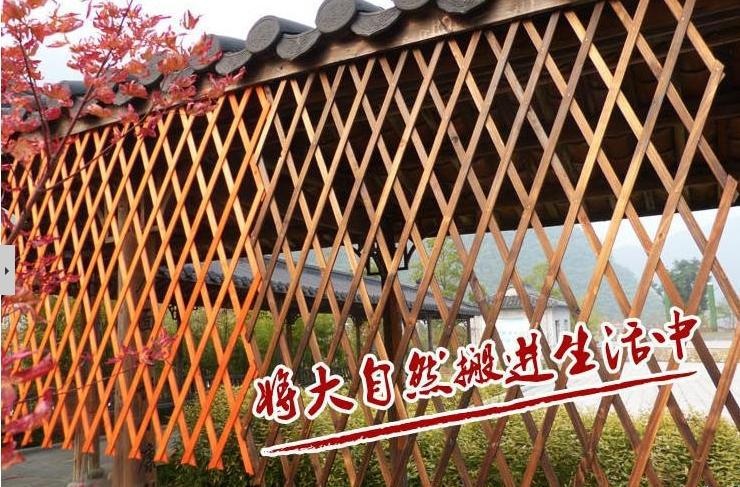 Freeshipping Carbonization Corrosion Protection Fence Outdoor Garden Wooden  Fence Partition Metope Adornment Climbing Frame In Fencing, Trellis U0026 Gates  From ...