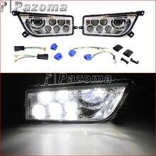 1 Pair High Low Beam 6500K 3450LM LED Headlight ATV Headlamp for Polaris RZR 900 2015-2017 RZR 1000 S 2016-2017 цена