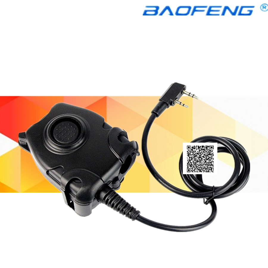 imágenes para Impermeable cable ptt para kenwood k enchufe para z tactical Comtac H50 H60 MSA SORDIN HD01 HD02 HD03 de Reducción de Ruido auricular