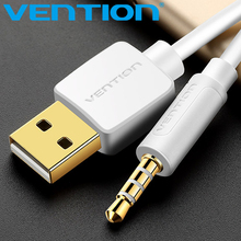 Vention 3.5mm Jack to USB 2.0 Charger Data Cable M/M Audio Headphone Adapter Cord for Apple ipod shuffle 3rd 4th 5th 6th 7th
