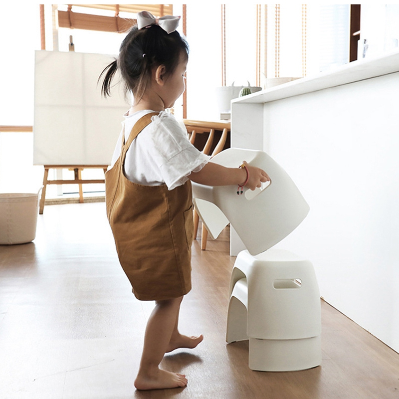 Thick Plastic Small Stool Bathroom Anti-Slip Stool Home Change Shoes Square Stool Children Bath Hand Wash Small Bench