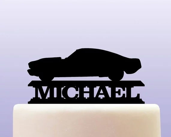 Personalised Name Cycle Acrylic Retro Vintage Mustang Classic Car
