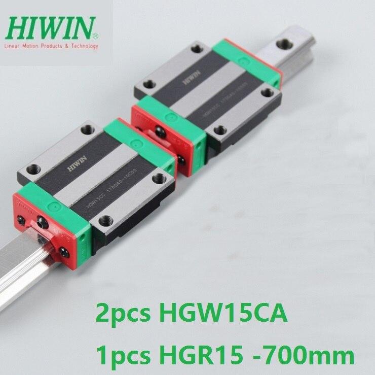 1pcs 100% original Hiwin linear rail guide HGR15 -L 700mm + 2pcs HGW15CA HGW15CC linear flange block carriage for cnc router цена